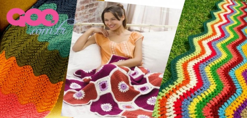 Örgü Battaniyeler 2014 Yılındada Moda