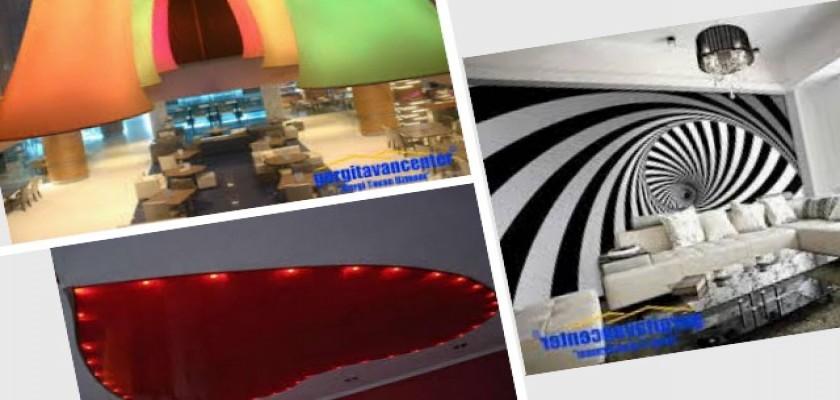 Dekoratif Çözümler İçin Germe Tavan Sistemleri